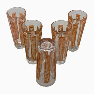 Figurine Glasses by R. Lalique, 1911, Set of 5