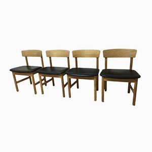 3236 Dining Chairs by Borge Mogensen for Frederica, Set of 4