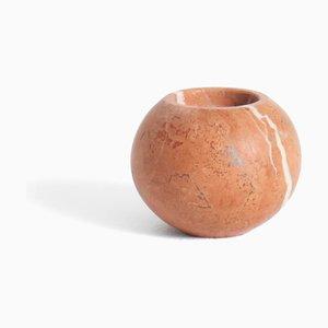 Teelicht aus Rosso Alicante Marmor von Michele Chiossi für Mmairo