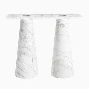 Inside Out Console Table In Marble by Karen Chekerdjian