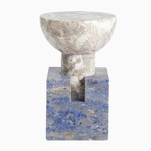 Tavolino Block in marmo bicolore di Anna Karlin per Mmairo