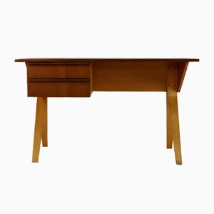 Birchwood and Teak Desk by Cees Braakman for UMS Pastoe, 1954