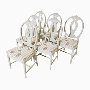 Gustavian Dining Chairs, 1940s, Set of 6