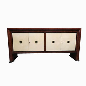 Italian Art Deco Maple & Parchment Sideboard, 1940