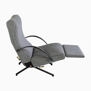 P40 Reclining Lounge Chair by Osvaldo Borsani for Tecno, 1956