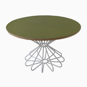 Oval Space Age Table With Atomic Diabolo Frame in Tubular Steel