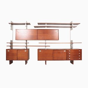 Large Wall Unit in Oak, Denmark, 1970s
