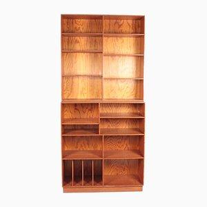 Mid-Century Bookcase in Patinated Origon Pine, Denmark, 1950s, Set of 2