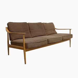 Antimott Sofa in Cherry Wood from Walter Knoll / Wilhelm Knoll, 1960s