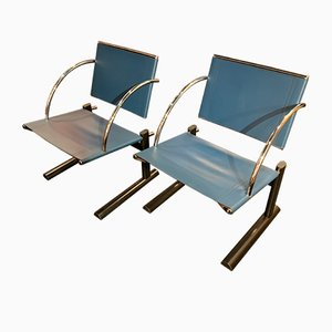 Postmodern Armchairs from Mobilia Italia, 1980s, Set of 2