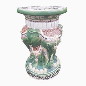 Vintage Flower Stool / Coffee Table