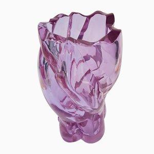 Large Mid-Century Crystal Vase