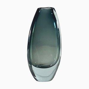 Scandinavian Sommerso Glass Vase, 1960s