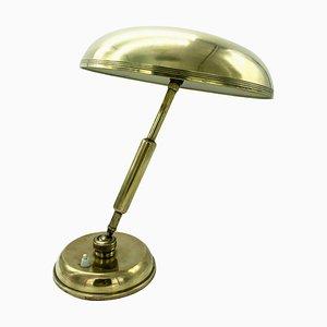 Lampada da tavolo in ottone di Giovanni Michelucci per Lariolux, anni '40