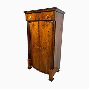 Austrian Biedermeier Walnut Veneer 2-Door Armoire, Vienna, 1825