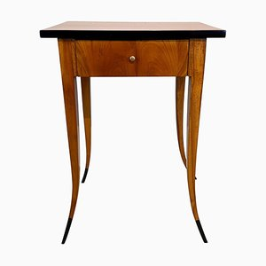 Biedermeier Cherrywood Side Table with Drawer, South Germany, 1830s