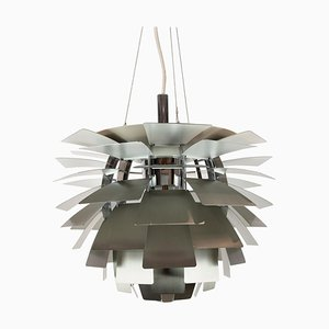 Brushed Steel Artichoke Pendant by Poul Henningsen, 1958
