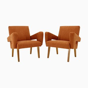 Czechoslovakian Armchairs, 1970s, Set of 2