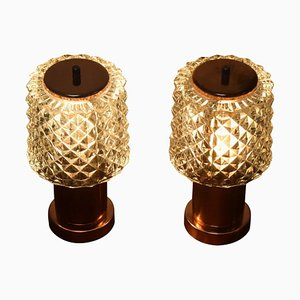 Preciosa Small Table Lamps from Kamenicky Senov, 1970s, Set of 2