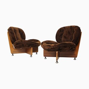 German Armchairs, 1970s, Set of 2