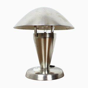Art Deco Chrom Bauhaus Tischlampe, 1930er
