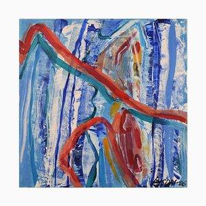 Ivy Lysdal, acrilico su tela, astratto modernista, 2006