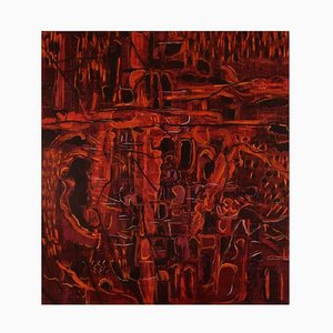Ivy Lysdal, Acrylic on Canvas, Abstract Modernist, 1997