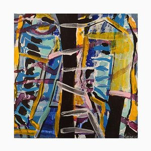 Ivy Lysdal, Acrylic on Canvas, Abstract Modernist, 2007