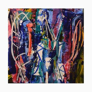 Ivy Lysdal, Acrylic on Canvas, Abstract Modernist, Late 20th Century