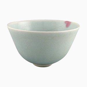 Danish Bowl In Glazed Porcelain by Gunhild Aaberg