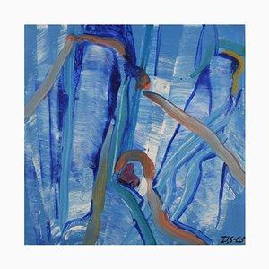 Ivy Lysdal, acrilico su tela, astratto modernista, 2005