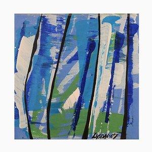Ivy Lysdal, acrilico su tela, astratto modernista, 2007