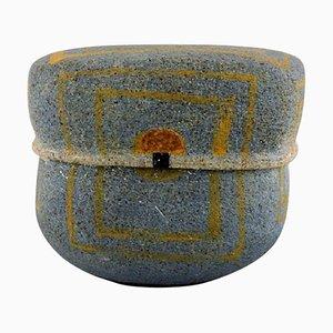 Danish Lidded Jar In Stoneware by Gunhild Aaberg