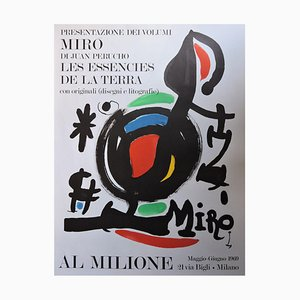 Joan Miró, In Milione, Plakat mit Lithographie, 1969