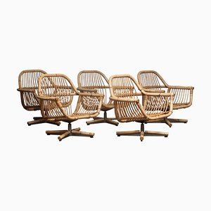 Scandinavian Rattan Garden Set / Lounge Set, 1960s, Set of 5