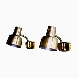 Brass Wall Lights by Armatur Hantverk Tibro, Set of 2, 1960s