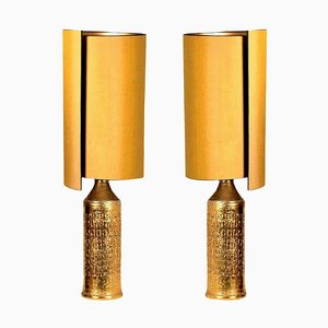 Bitossi Lamps for Bergboms with Custom Made Shades by René Houben, Set of 2