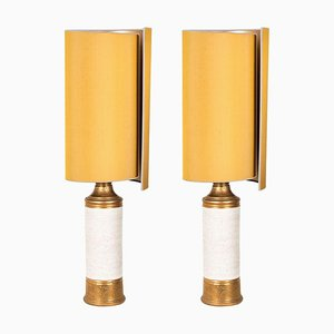 Bitossi Lamp from Bergboms with Custom Made Shades by Rene Houben