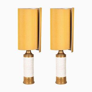 Bitossi Lampe von Bergboms mit Maßgefertigten Schirmen von Rene Houben