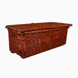 English Wicker Log Basket