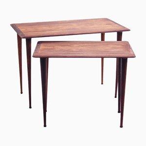 Danish Rosewood Nesting Tables from Mobelintarsia, Set of 2