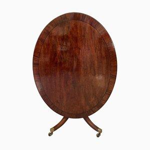 Large Antique George III Oval Mahogany Breakfast Table