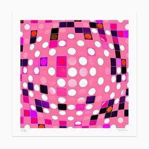 Dadodu - PInk Composition - Original Giclée Print - 2010