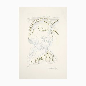 Salvador Dalí - the Dove-like Eyes on the Bride - Original Etching - 1971