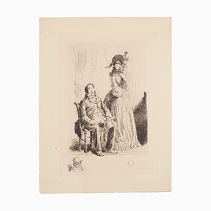 Auguste Brouet - the Rich - Original Etching - Early 20th Century