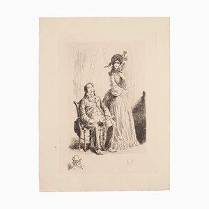 Auguste Brouet - The Rich - Original Radierung - Frühes 20. Jahrhundert