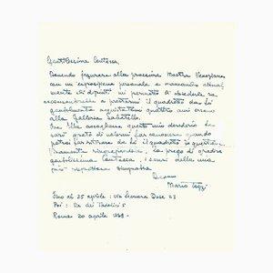 Mario Tozzi - Original Manuskripte - 1930er