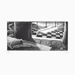 Piero Cesaroni - the Balcony - Original Etching - 2004