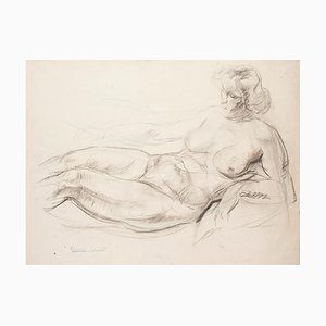 Albert Fernand-Renault - Nude - Original Drawing on Paper - Early 20th Century