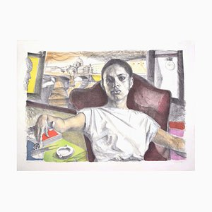 Ugo Attardi - Woman - Original Lithograph - 1985